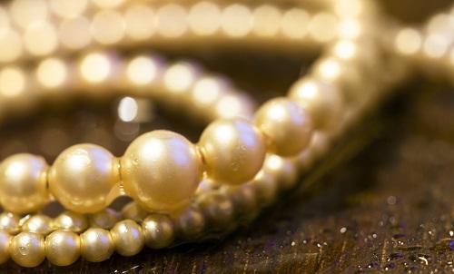 collier perle pendentif